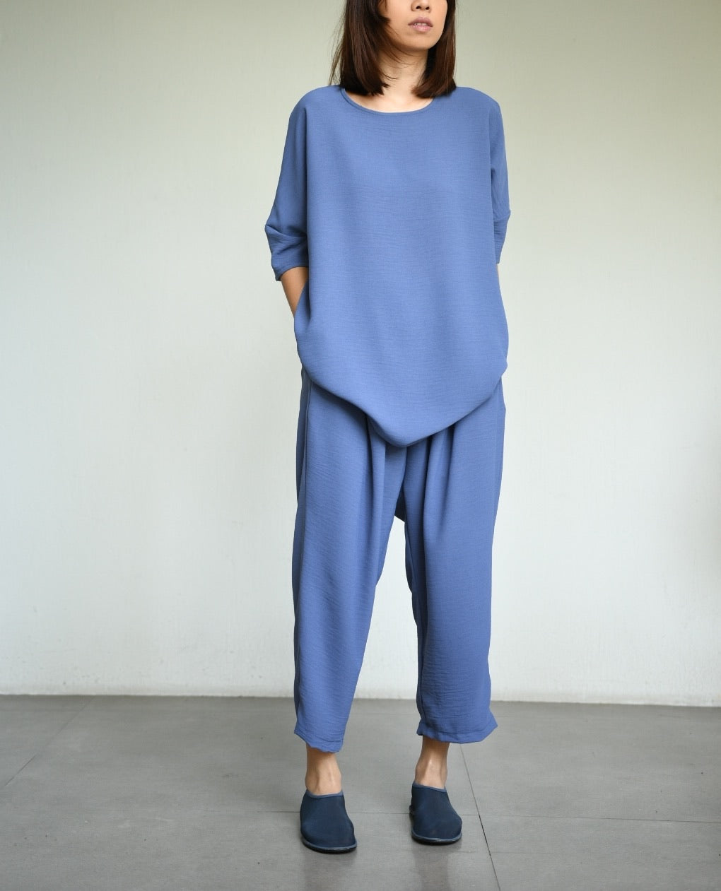 Easy Long Top Short Sleeves