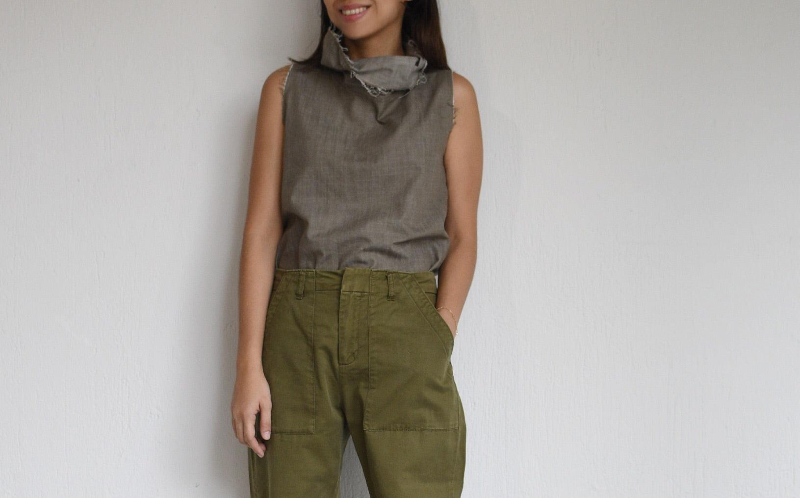 Denim Sleeveless Mocha