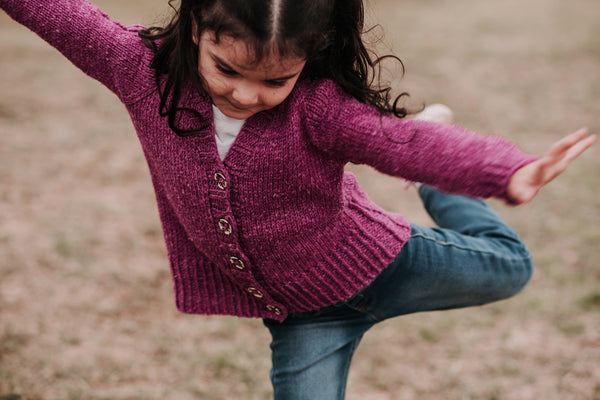 Reidette Girls Cardigan Knitting Pattern Download