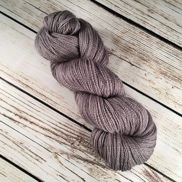 Hot Silver Anna Maria Cashmere Mulberry Silk Yarn Hand Dyed by Kitty Bea Knitting