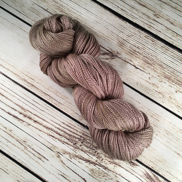 Sandcastle Anna Maria Cashmere Mulberry Silk Yarn Hand Dyed by Kitty Bea Knitting