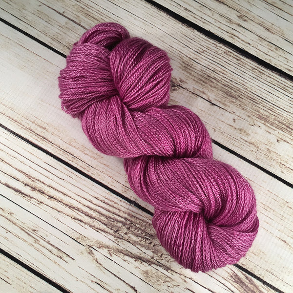 Siam Orchid Anna Maria Cashmere Mulberry Silk Yarn Hand Dyed by Kitty Bea Knitting