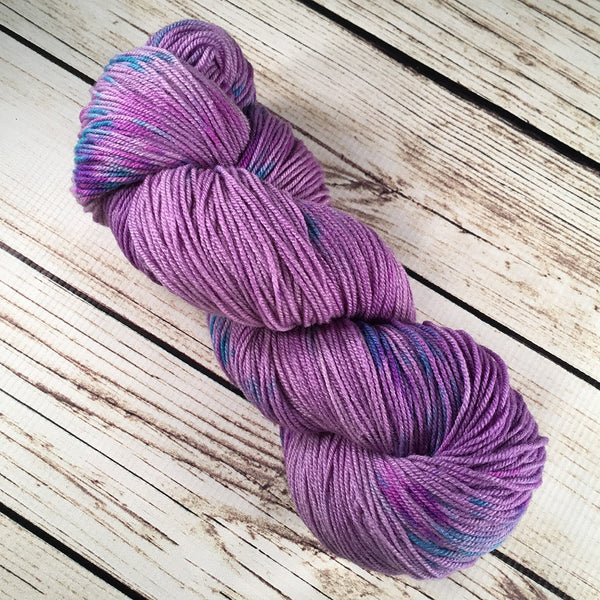 Jacaranda Boca American Wool Silk Yarn Hand-Dyed by Kitty Bea Knitting