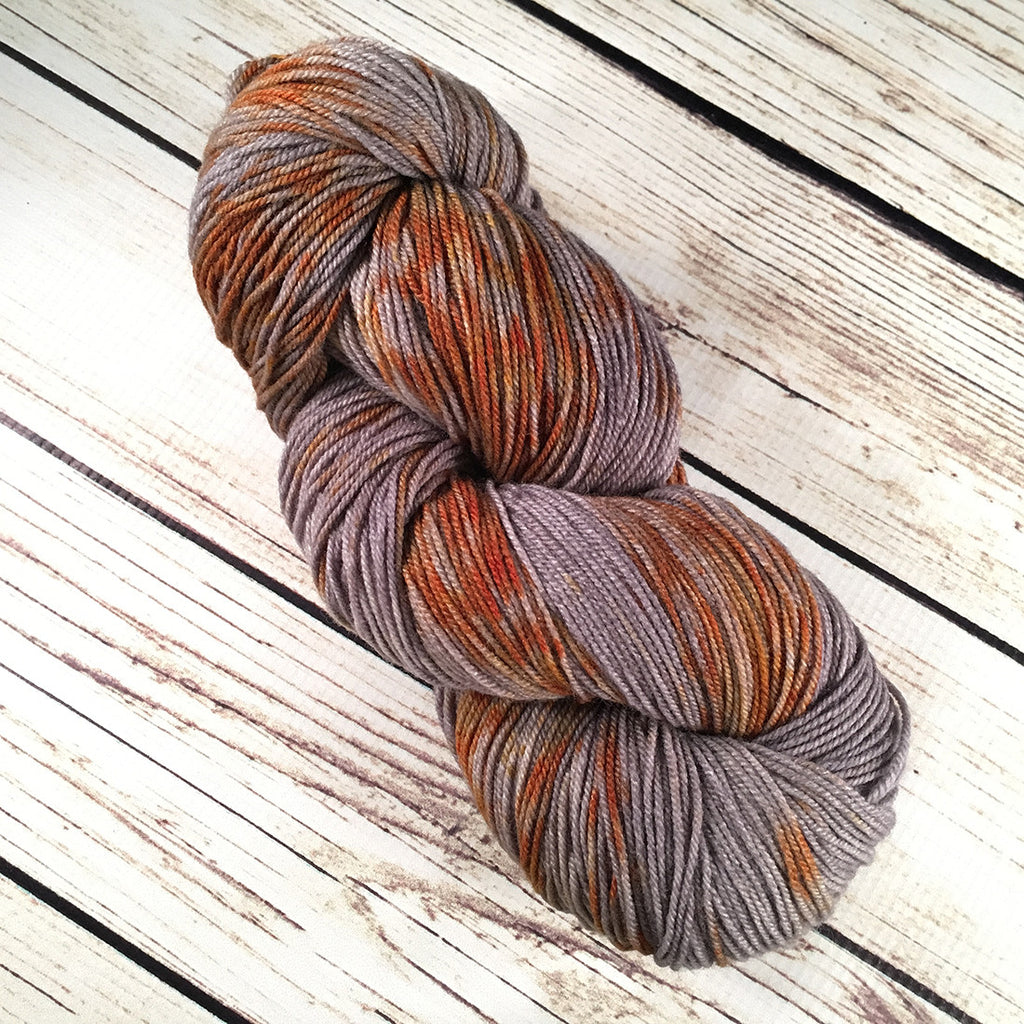 Rusty Anchor Boca American Wool Silk Yarn Hand-Dyed by Kitty Bea Knitting