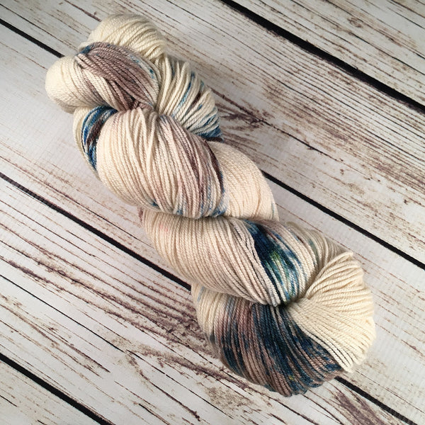 Sandbar Boca American Wool Silk Yarn Hand-Dyed by Kitty Bea Knitting