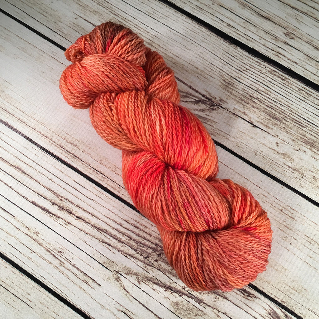 Valencia Casey Superwash Merino Wool Yarn Hand-Dyed by Kitty Bea Knitting