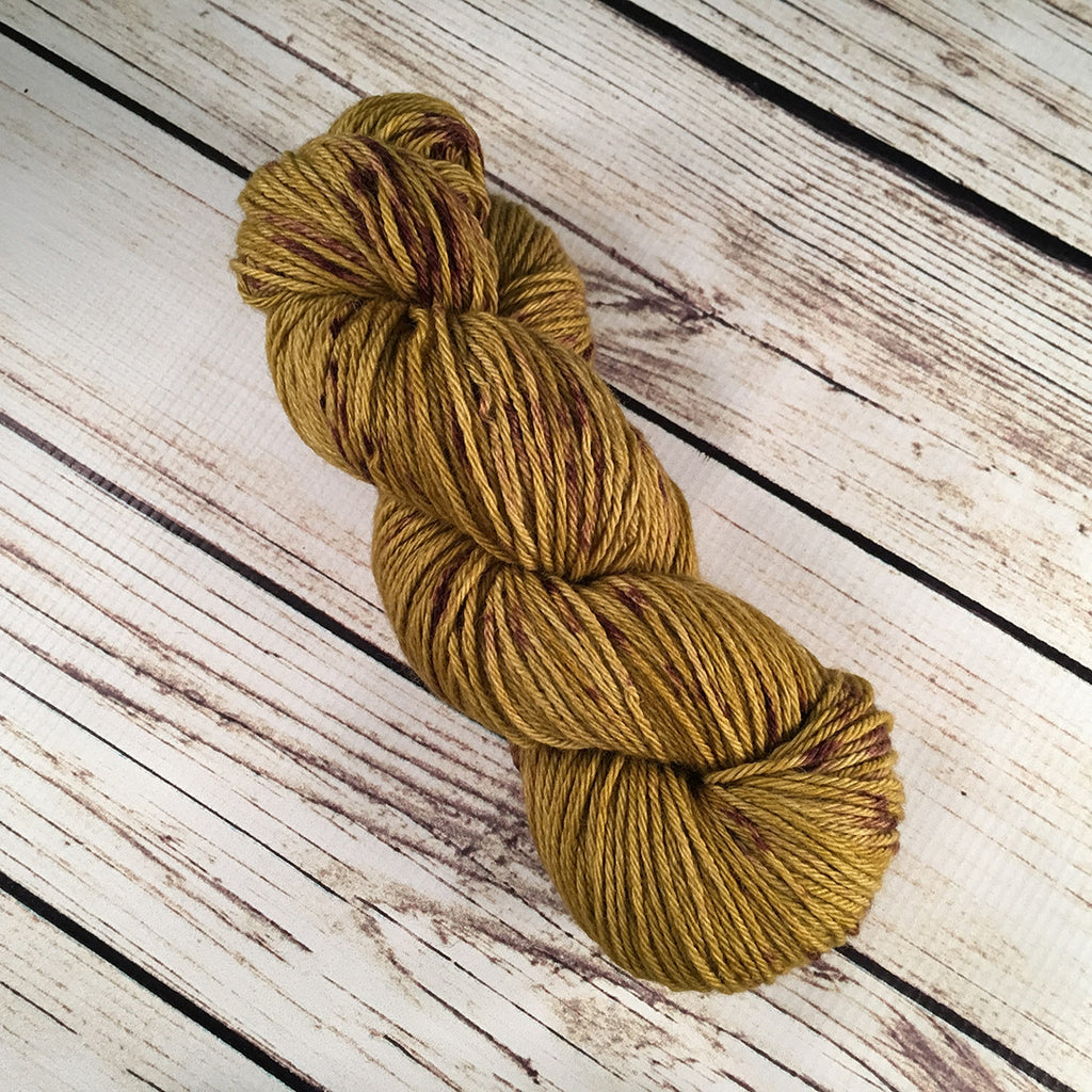 Anjou Coquina DK Baby Yak Fleece Yarn Hand-Dyed by Kitty Bea Knitting