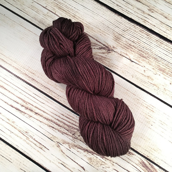 Café Coquina DK Baby Yak Fleece Yarn Hand-Dyed by Kitty Bea Knitting
