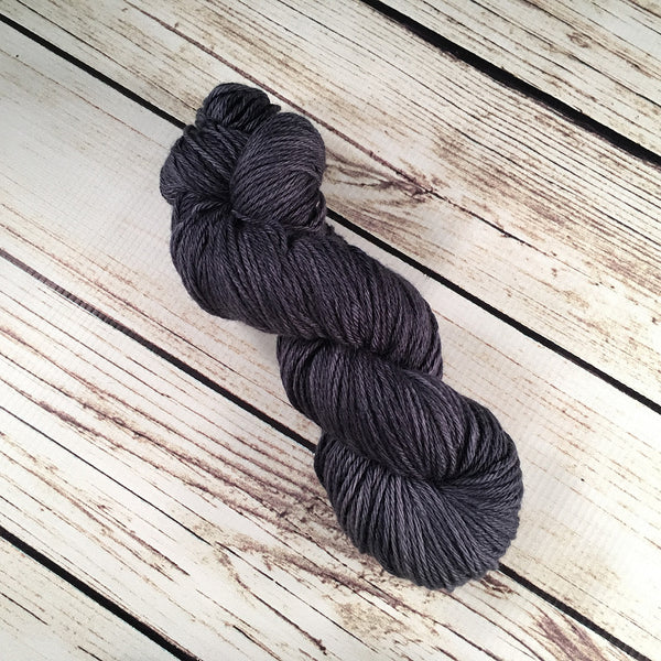 Moody Blue Coquina DK Baby Yak Fleece Yarn Hand-Dyed by Kitty Bea Knitting