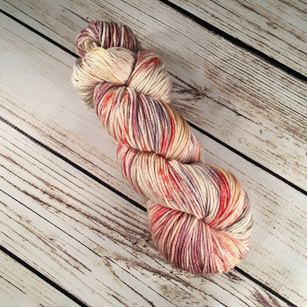 Fruitville Crescent Superwash Ultrafine Merino Wool Silk Yarn Hand-Dyed by Kitty Bea Knitting