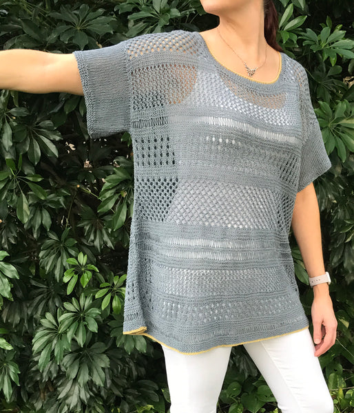 Donna Linen Tee / Pullover Knitting Pattern Download
