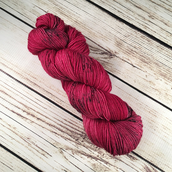 Bougainvillea Venice Superwash Polwarth Wool Yarn Hand Dyed by Kitty Bea Knitting