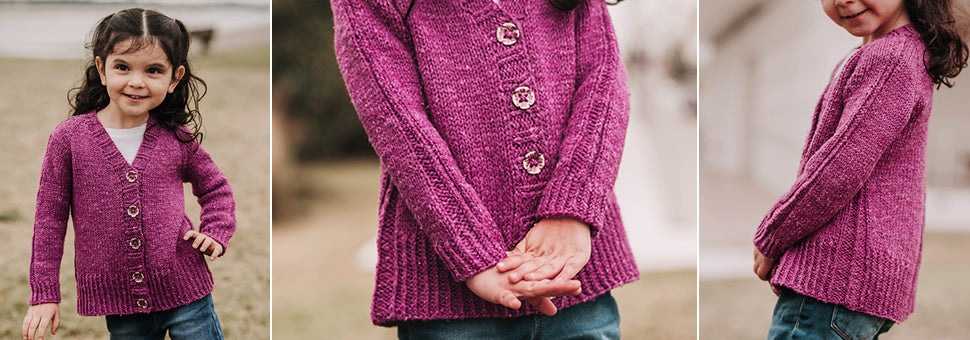 Reidette Girls Cardigan Sarasota Knitting Pattern 1