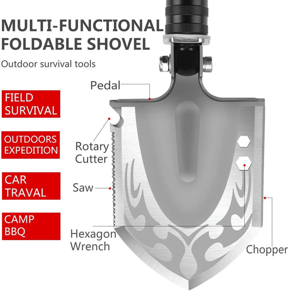 Military Folding Shovel Portable Survival Multitool Tactical - Regeneration Zone