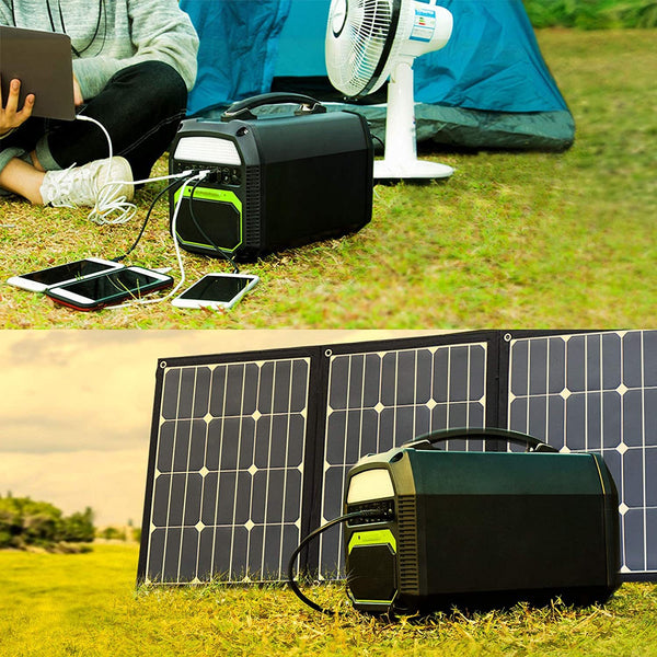ACOPOWER 500W Generator and 120W Portable Solar Panel - Regeneration Zone