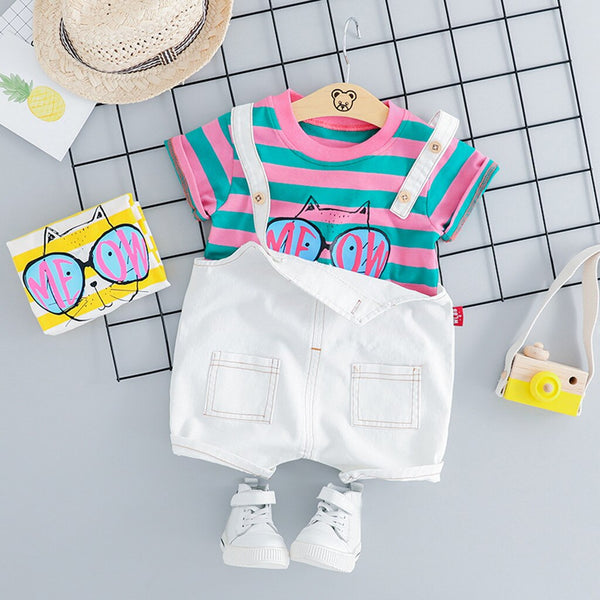 Funky Toddler Overall Set
