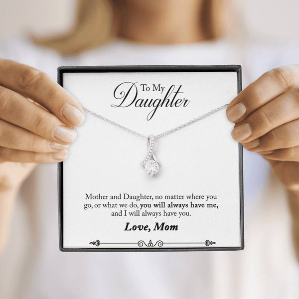 New Fashion with Swarovski Crystals  Pendant Necklace for Women Crafted with 14k White Gold over Stainless Steel High Quality Jewelry Gift To My Daughter Christmas Gifts - Regeneration Zone