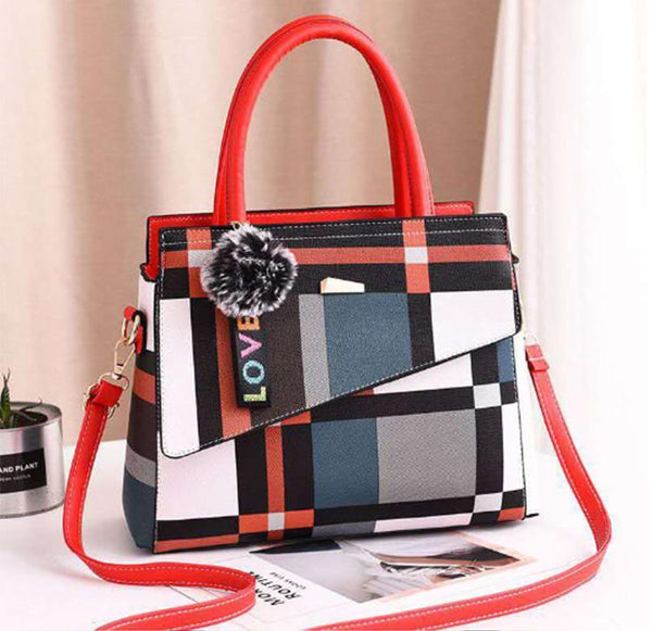 Patchwork Casual Large Shoulder Handbag