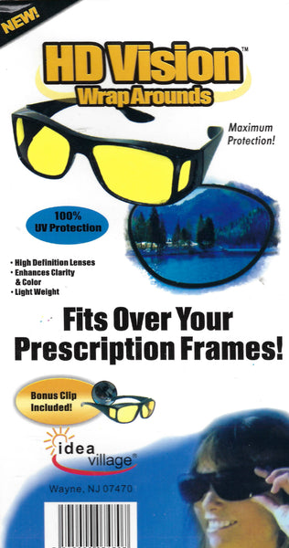 HD Night & Day Vision Wraparound Sunglasses