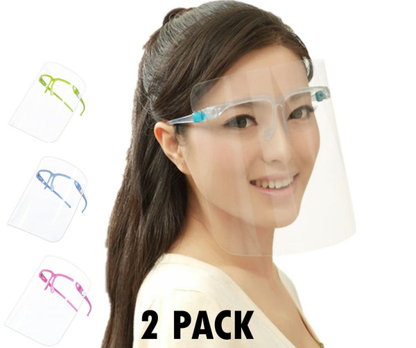 Face Shield Guard Mask Safety Protection With Glasses -2 Pack - Regeneration Zone