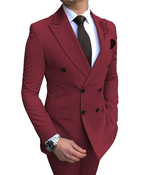 Burgundy Men's Suit