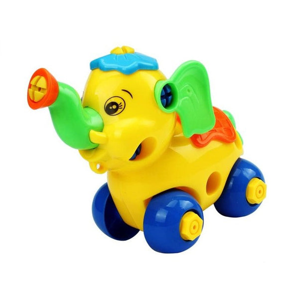 Disassembly Animal Elephant toy Car Design Educational toys for children kids toy Christmas Gift drop shipping