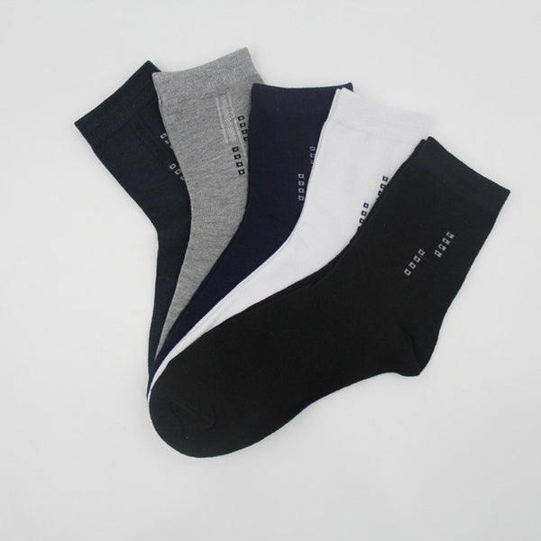 5 Pairs/Lot Men's Socks Summer Cotton Formal Solid Color Breathable Short Sock Business Black Excellent Quality Male Sock Meias - Regeneration Zone