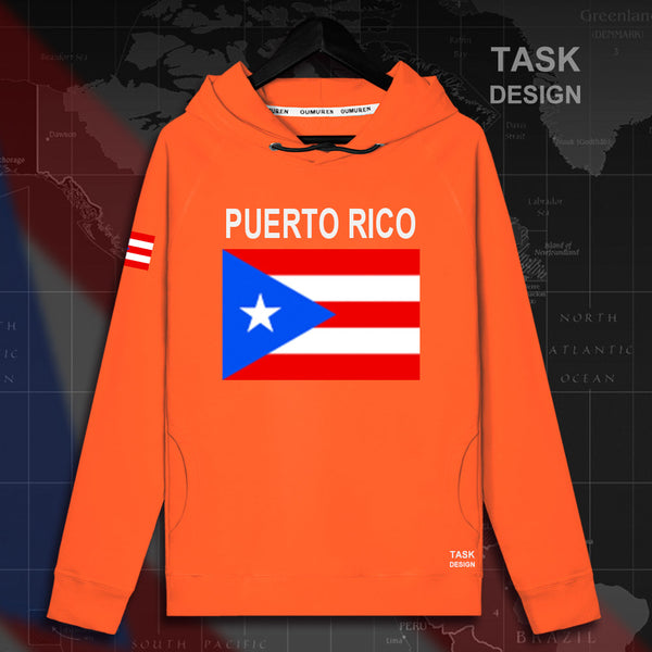 Puerto Rico Rican PRI PR mens hoodie pullovers hoodies men sweatshirt streetwear clothing hip hop tracksuit nation flag Spring
