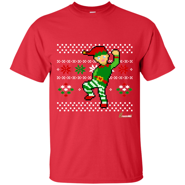 GreenMii - Folks the 8-Bit Christmas Elf T-Shirt
