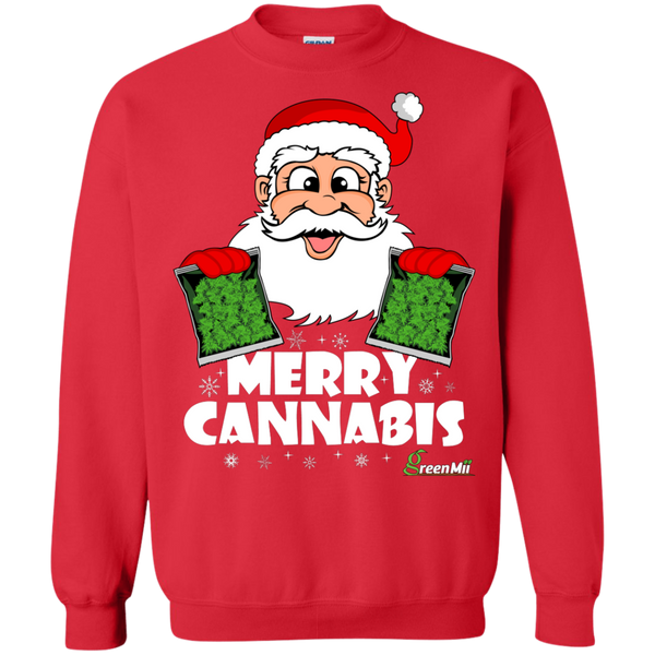 GreenMii - Merry Cannabis Santa Crewneck Sweatshirt
