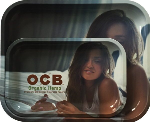 OCB Organic Hemp Metal Rolling Tray (GIRL)