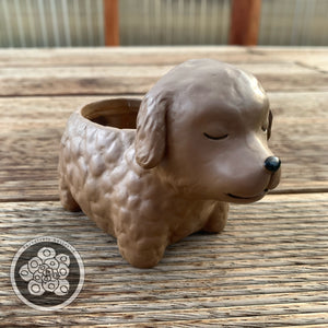 Dog Resin Animal Pots