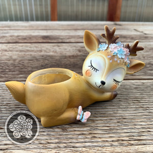 Bambi Resin Animal Pot