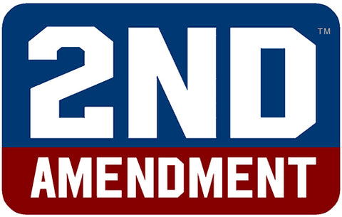"2nd Amendment™ Red, White, & Blue Block 4"" x 2.5"" Sticker Decal"