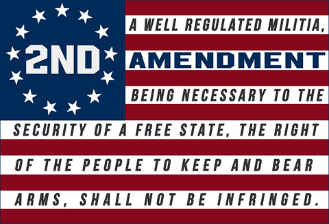 "2nd Amendment™ 13 Stars Flag 4"" x 2.75"" Sticker Decal"
