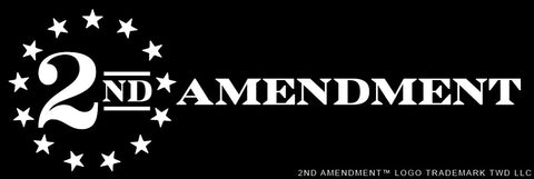 "2nd Amendment™ Logo ""WHITE"" Vinyl Sticker Decal 5"" x 2"""