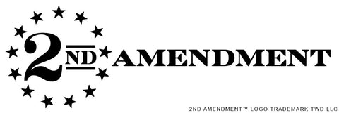 "2nd Amendment™ Logo ""BLACK"" Vinyl Sticker Decal 5"" x 2"""