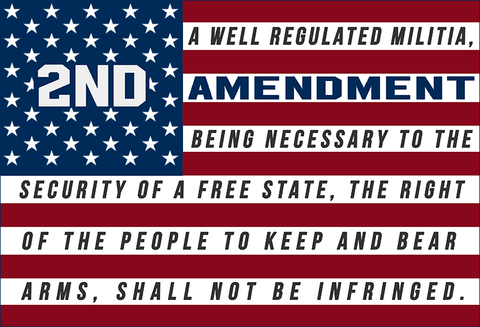 "2nd Amendment™ 50 Stars Flag 4"" x 2.75"" Sticker Decal"