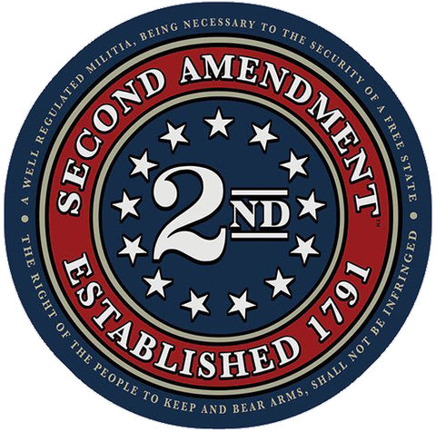 Second Amendment™ Seal of 1791 Vinyl Decal Sticker 4""