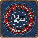 "2nd Amendment™ - Seal of 1791 - Vintage Tin Sign 13"" x 13"""