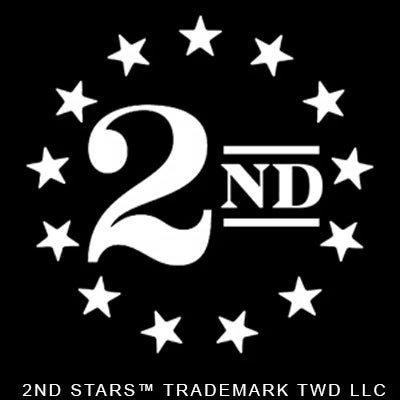 "2nd Stars™ ""WHITE"" Vinyl Sticker Decal 3"" x 3"""