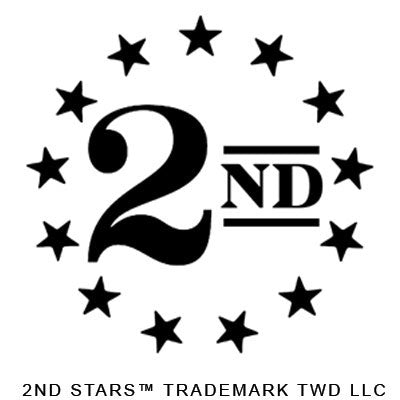 "2nd Stars™ ""BLACK"" Vinyl Sticker Decal 3"" x 3"""