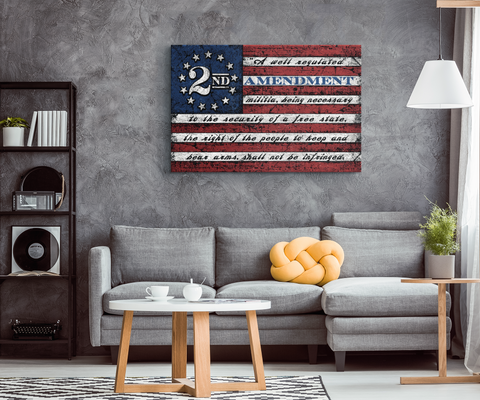 2nd Amendment Flag - Premium Gallery Canvas