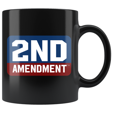 2ND AMENDMENT - 2ND BLOCK LOGO - 11OZ COFFEE MUG IN BLACK