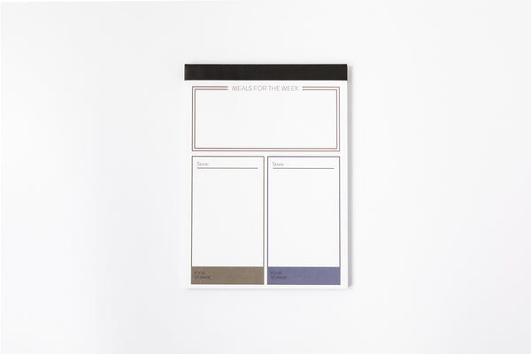 Single Sheet  Menu/Grocery Shopping Pad