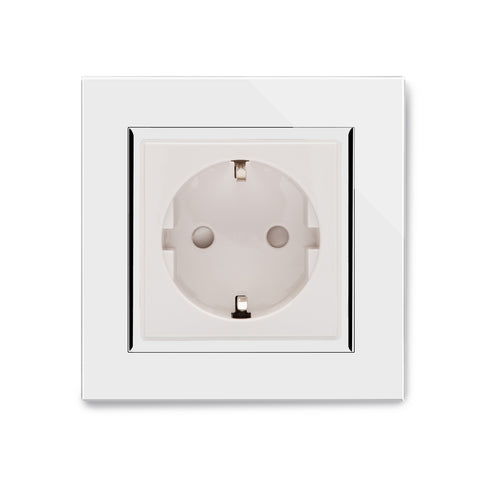 Crystal CT 13A Single Shuko Plug Socket White