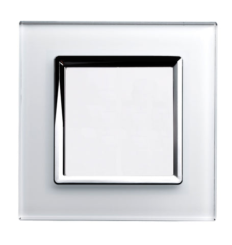Crystal CT 1 Gang Blank Plate White