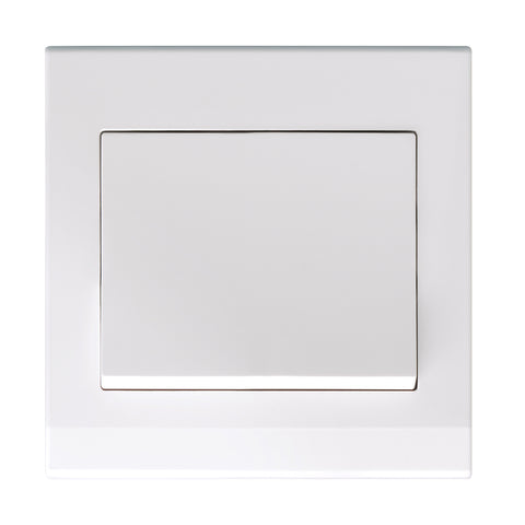 Simplicity Mechanical Light Switch 1 Gang White