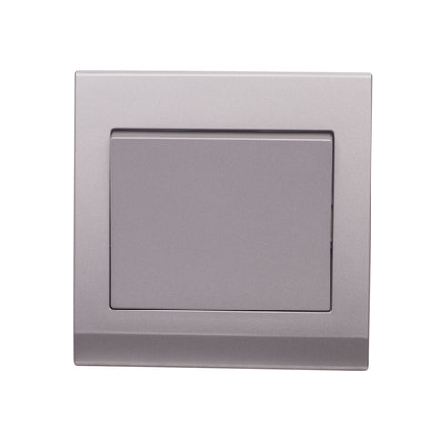 Simplicity Mechanical Light Switch 1 Gang Mid Grey