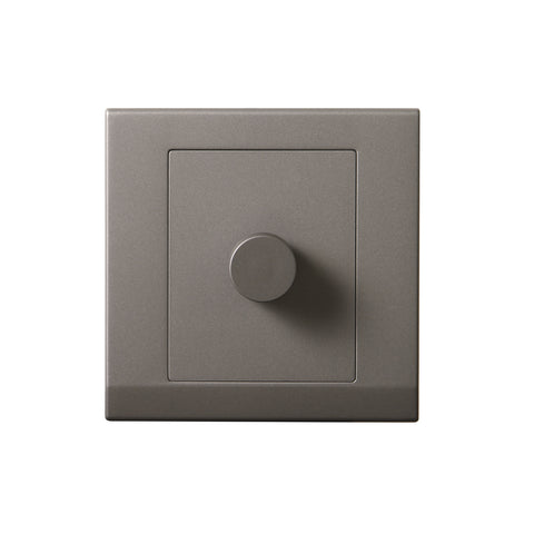 Simplicity LED Dimmer Light Switch 1 Gang 2 Way Mid Grey